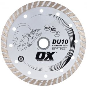 Image for OX DU10 Standard Turbo Gen. Purpose Diamond Blade